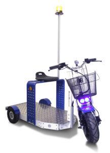EuroScooter mit Bluespot und Rundumleuchte